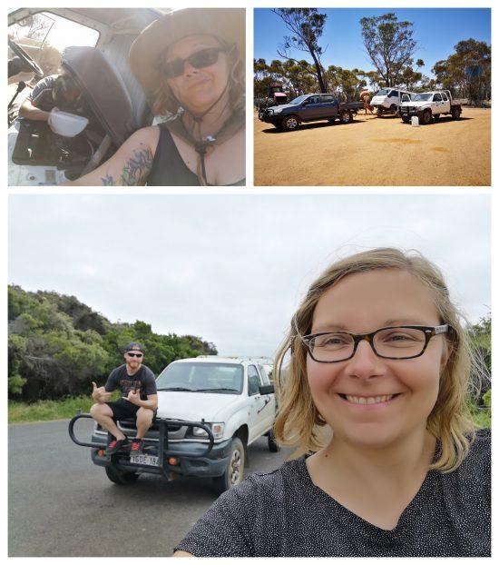 In Australien blieben wir im Nirgendwo mit dem Camper stehen. Der Kühler war hin. Ein paar Kilometer schafften wir an dem Tag noch. Zum Glück wohnten Freunde von meiner australischen Familie nur 100 km entfernt und schleppten uns am nächsten Tag ab. Das war schon großartig. Aber es kam noch besser! Er gab uns einfach seinen Pick Up damit wir unseren Urlaub fortsetzen konnten. Ich bin dankbar für solche Momente! Das Gefühl, was auch passiert, es wird gut werden.