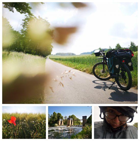 Im Sommer 2020 erfüllte ich mir den Wunsch einer Radtour. Ich fuhr sechs Tage entlang der Römer-Lippe-Route zwischen Feldern, Wäldern und abendlichen Biergärten. Ein so tolles Abenteuer. Am letzten Tag überraschte mich der Regen. Pool im Schuh, gehört wahrscheinlich einfach dazu.